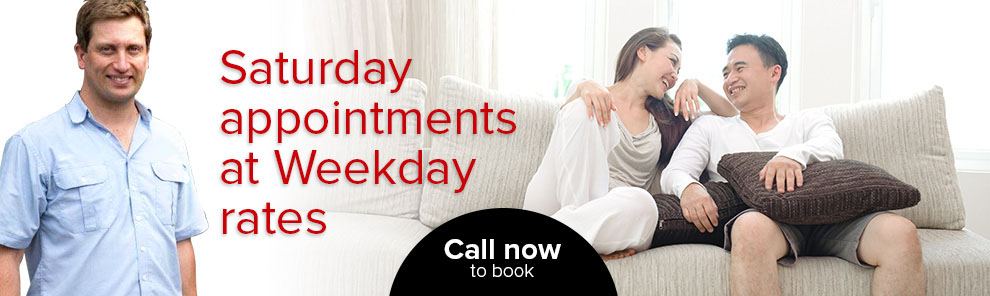 Saturday appointments and weekend rates